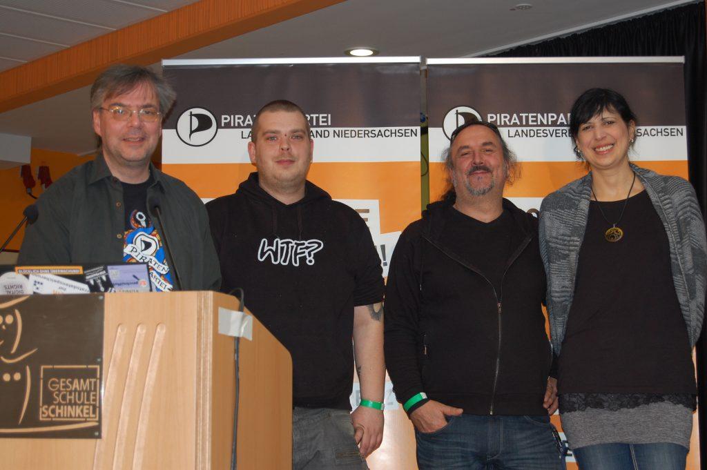 Thomas Ganskow, Florian Lang, Adam Wolf, Sandra Zecchino. Es fehlt: Matthias Hackbarth